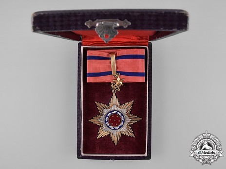 Order of United Glory, III Class Sash Badge Case of Issue