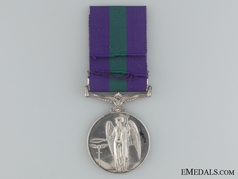 """Silver Medal (with""""PALESTINE 1945-48"""" clasp) (1937-1949) Reverse"""