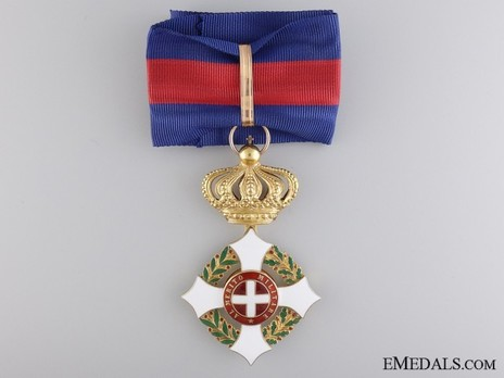 Military Order of Savoy, Type II, Grand Officer (in gold) Obverse