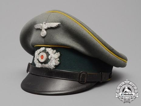 German Army Post-1936 Signals NCO/EM's Visor Cap Profile