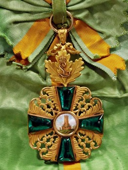 """Order of the Zähringer Lion, Grand Cross (with oak leaves and """"L"""" cypher)"""