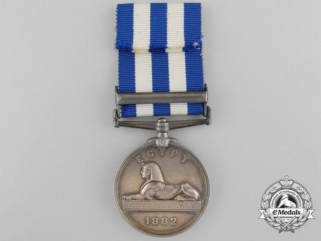 """Silver Medal (with """"TEL-EL-KEBIR"""" clasp) Reverse"""
