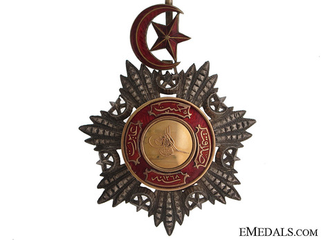 Order of Medjidjie, Civil Division, I Class Obverse