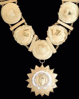 Order of Sheikh Issa (Wisam al-Shaikh 'Isa bin Salman Al Khalifa), Exceptional Class Grand Cordon Collar Obverse