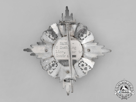 Order of the Zähringer Lion, Commander Breast Star (in silver and gold) Reverse
