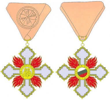 Order of Saints Cyril and Methodius, I Class Obverse and Reverse