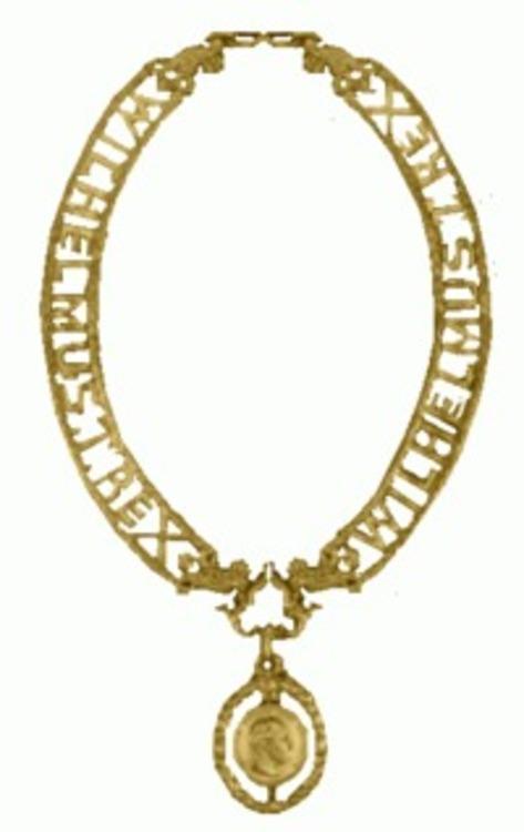 De gouden keten van de wilhelm orde van pruisen 1896 tot 1918
