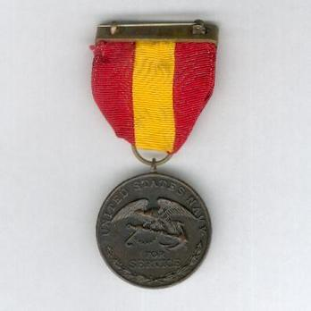 Bronze Medal (for Navy, with 1st style ribbon) Reverse