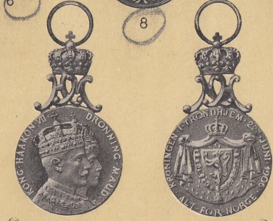 Norway%2c+coronation+medal+1906+in+bronze