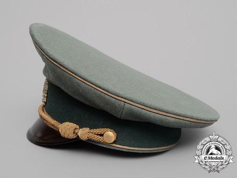 German Army General's Pre-1943 Visor Cap (with metal insignia) Left Side