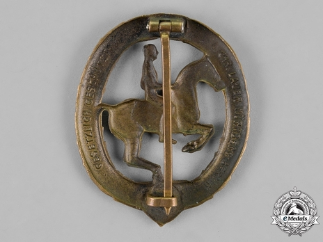 German Horseman's Badge, in Bronze