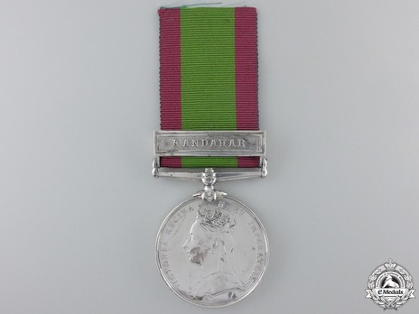 """Silver Medal (with """"KANDAHAR"""" clasp) Obverse"""