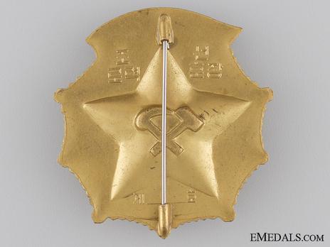 Order of Korean Labour, Type II, Badge Reverse