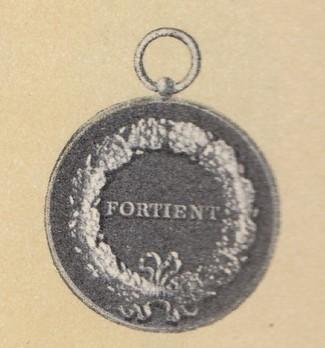 Medal of Merit in Gold, Type VIII  Reverse
