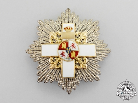 3rd Class Breast Star (white distinction) (with Fleur de Lys and Royal Crown) Obverse
