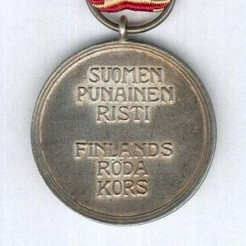 Cross of Merit of the Finnish Red Cross, Silver Medal Reverse