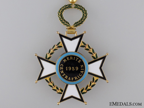 Order of Central African Merit, Commander Reverse