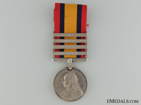 Queen's South Africa Medal Obverse