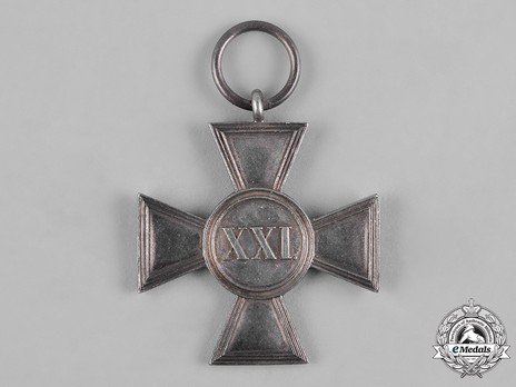 Long Service Cross, Type II, I Class for 21 Years