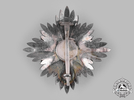 Order of Leopold, Type III, Military Division, I Class Breast Star (lower class) Reverse