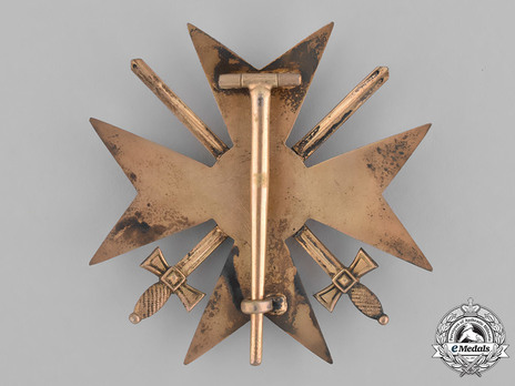 Officer Cross with Swords Reverse