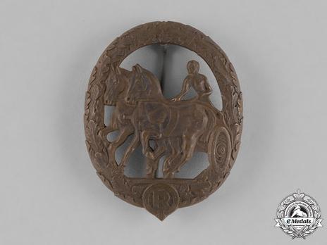 German Horse Driver's Badge, in Bronze Obverse