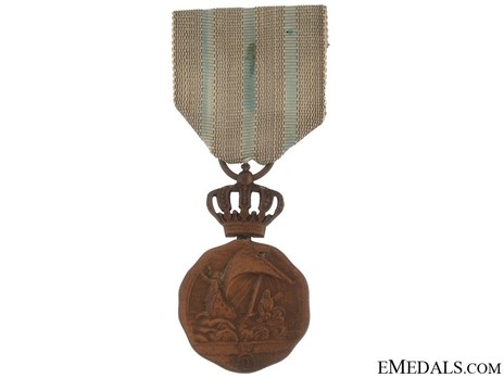 Medal of Maritime Virtue, Type I, Civil Division, III Class (with crown) Obverse