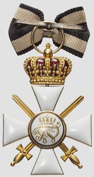Type V, Military Division, III Class Cross (with crown & swords, in gold) Reverse