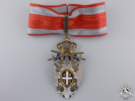 Order of the White Eagle, Type II, Military Division, III Class Obverse