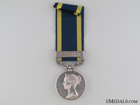 "Silver Medal (with ""MOOLTAN"" clasp) Obverse"