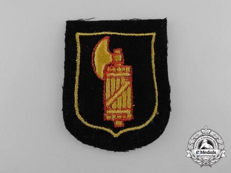 Waffen-SS Italian Volunteer Arm Shield Obverse
