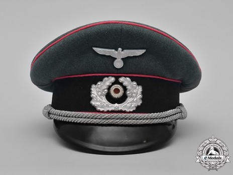 German Army Armoured Officer's Visor Cap Front