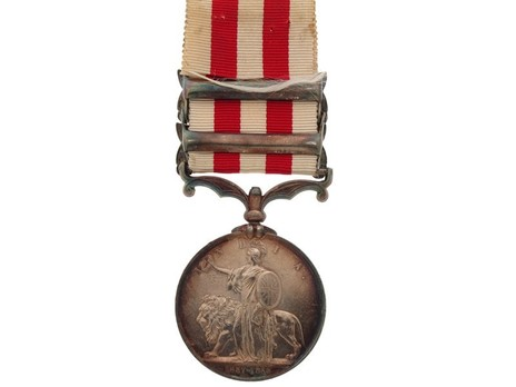 Silver Medal (with 2 clasps) Reverse