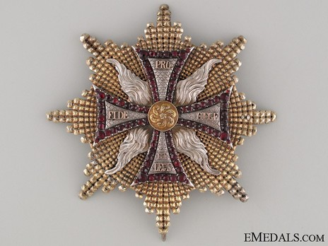 Order of the White Eagle, Breast Star (1764-1831) Obverse