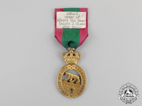 I Class Knight (with crown) (in silver gilt) Reverse
