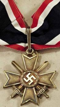 Golden Knight's Cross of the War Merit Cross with Swords, by Deschler Obverse