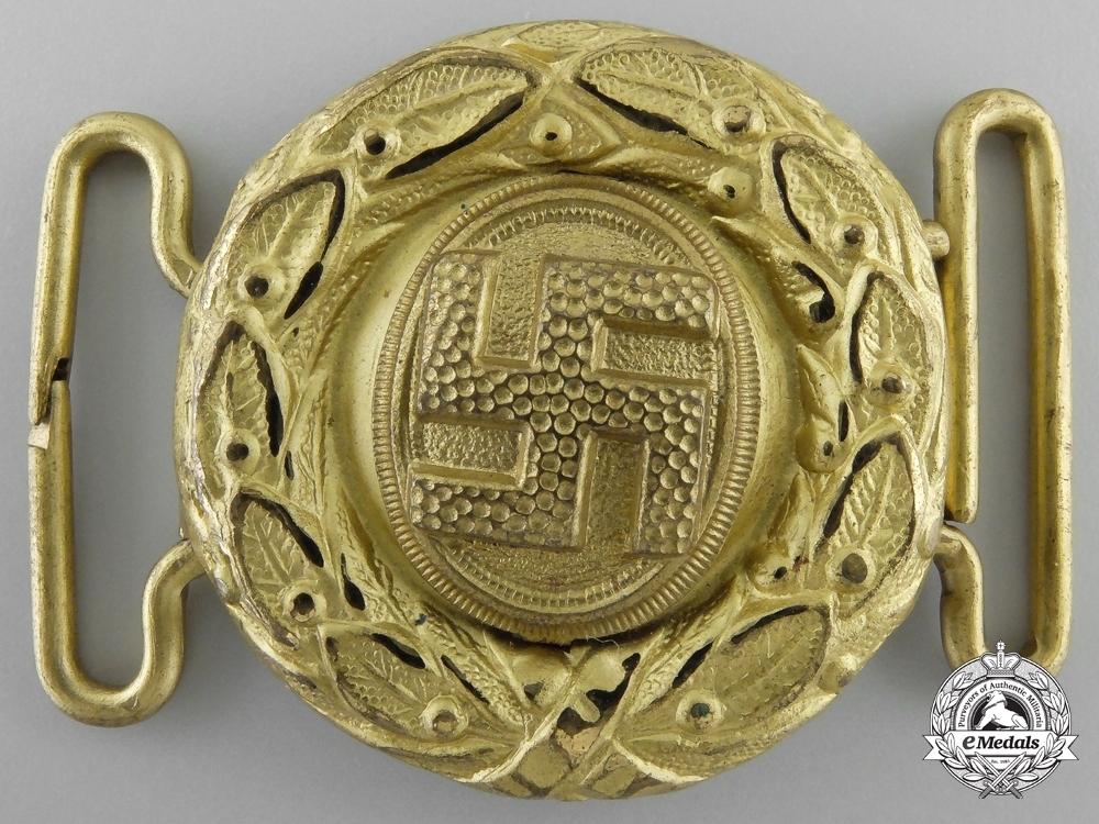 Hj officer pre 1933 belt buckle gold obverse