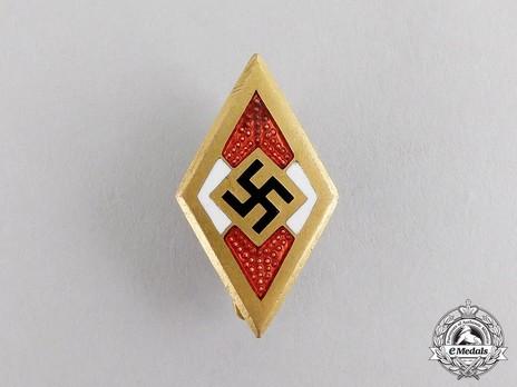 Golden HJ Honour Badge Obverse
