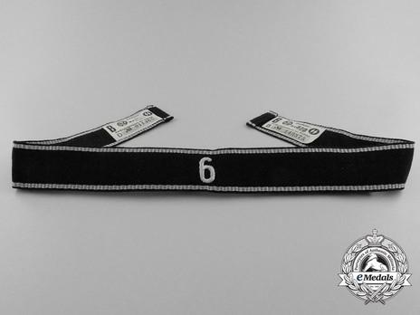 Allgemeine SS 6th Standarte Cuff Title Obverse