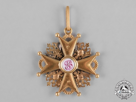 Order of Saint Stanislaus III Class Badge Reverse