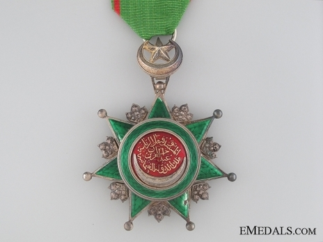 Order of Osmania, Civil Division, IV Class Obverse