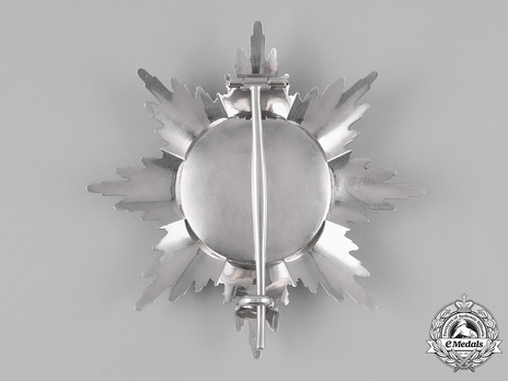 Order of the Zähringer Lion, Grand Cross Breast Star (with diamonds) reverse