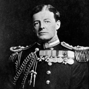 David Beatty wearing the Royal Victorian Order
