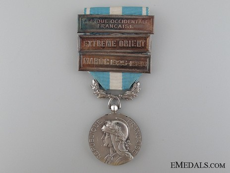 """Silver Medal (with 3 clasps, stamped """"GEORGES LEMAIRE"""") Obverse"""