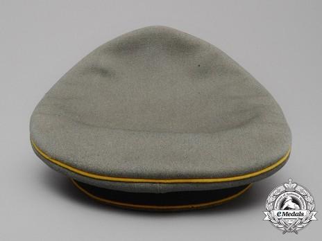 German Army Post-1936 Signals NCO/EM's Visor Cap Back