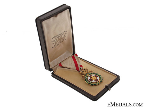 Order of the Red Cross, Type I, Medal Case of Issue Obverse
