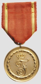 Long Service Decoration, II Class Medal for 12 Years (1913-1918) (in bronze gilt) Obverse