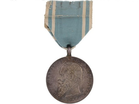 Long Service Award for Workers in the Army Workshops, Silver Medal Obverse