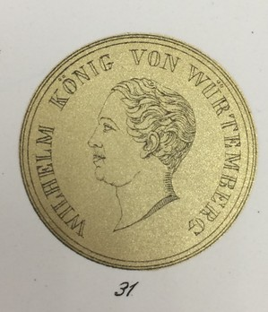 Medal for the Arts and Sciences, Type II, in Small Gold Reverse