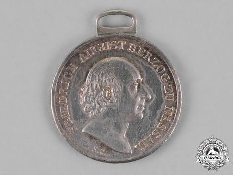 """Silver Medal (stamped """"I.L."""") Obverse"""